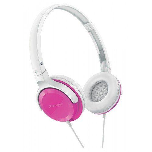 cadeau-publicitaire-casque-audio-pioneer-blanc-et-fushia