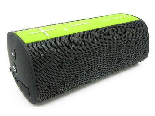 communication-par-l-objet-enceinte-bluetooth-vert-fluo