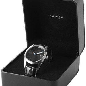 idée-cadeau-entreprise-fin-d-année-montre-bracelet-cuir-noir