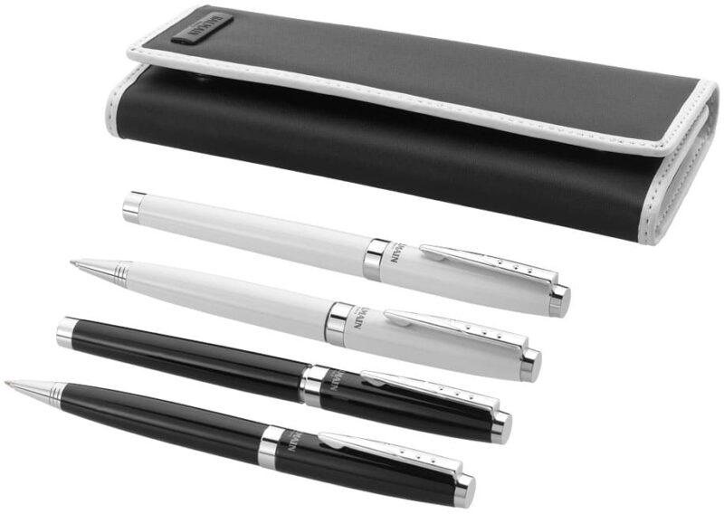 cadeau-client-fin-d-année-parure-stylo-bille-balmain-noir-et-blanc
