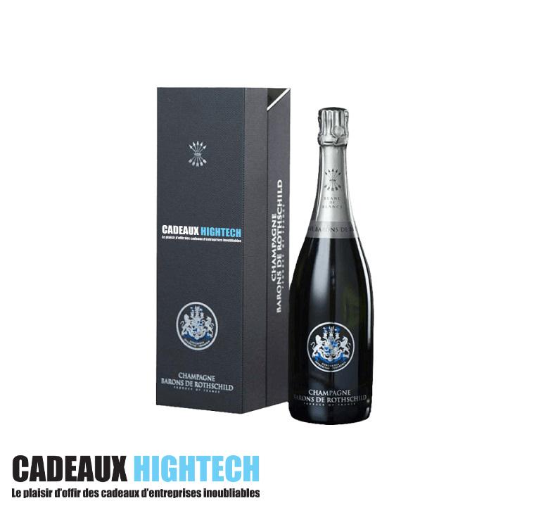Cadeaux d'entreprise champagne rothschild blanc