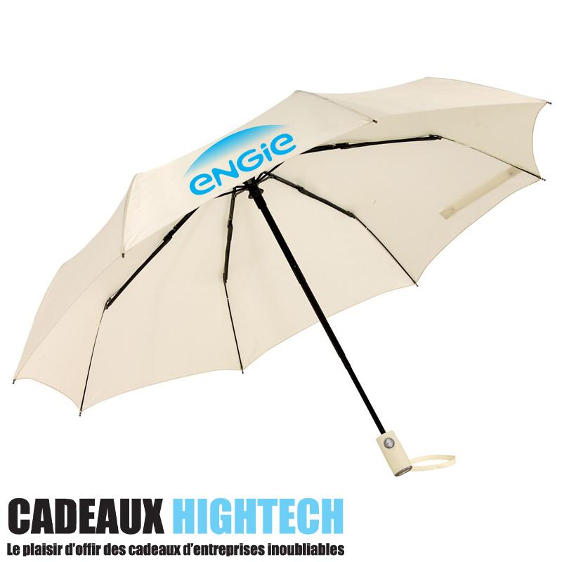Parapluie automatique anti tempete blanc