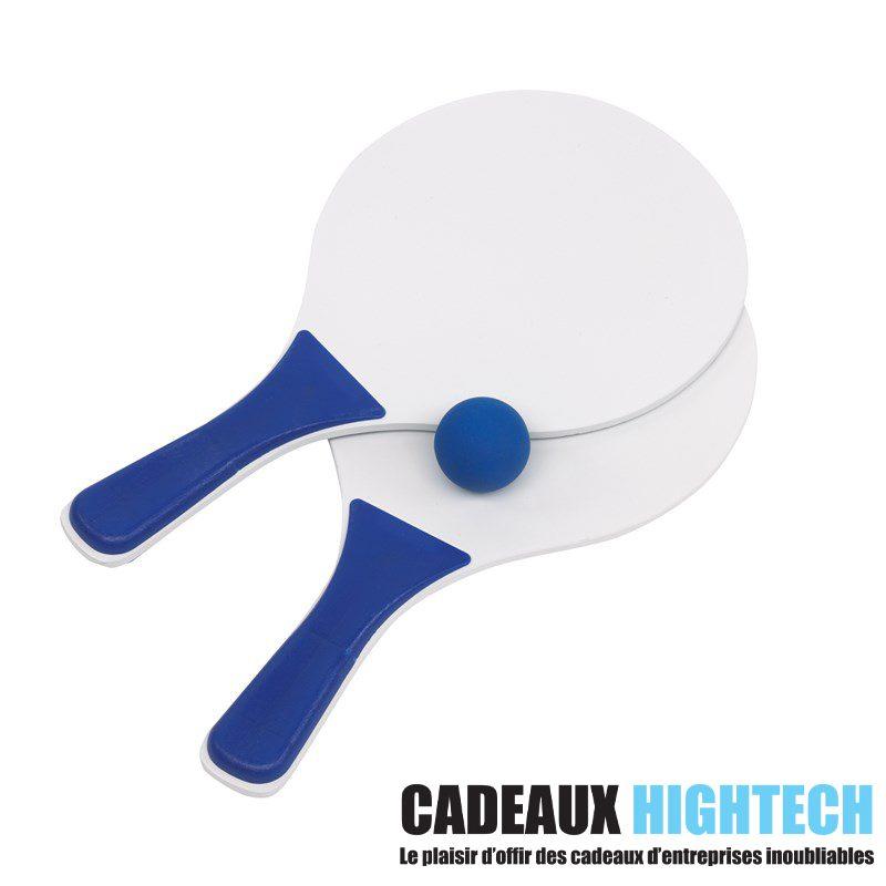 idee-cadeau-collegue-raquettes-de-plage-tendance-bleu-sur-mesure