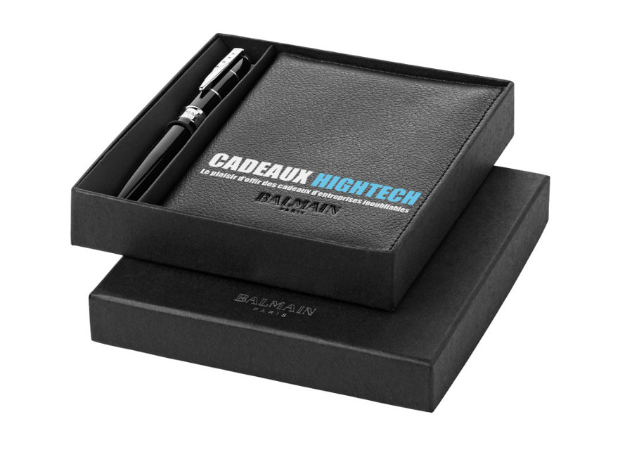Parure stylo et pochette Balmain design