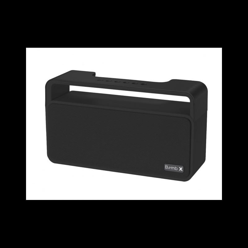 objet-publicitaire-enceinte-bluetooth-noire-compacte