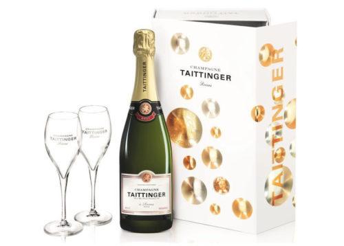 Cadeaux client coffret Champagne Taittinger