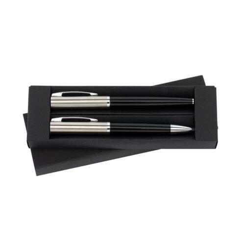 gadget-entreprise-parure-stylos-noir-et-argent