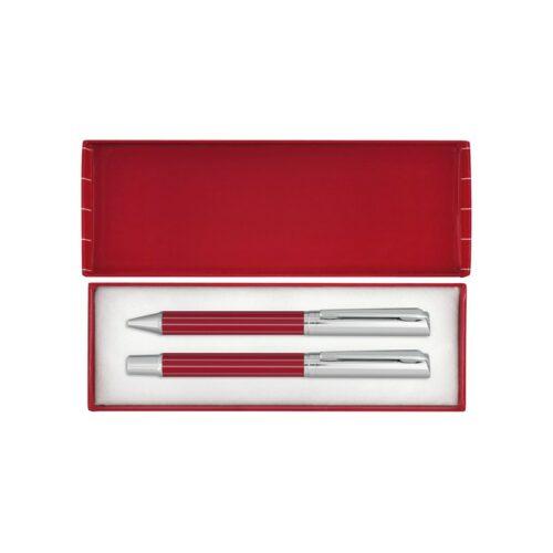 goodies-entreprise-parure-stylos-rouge-et-metal