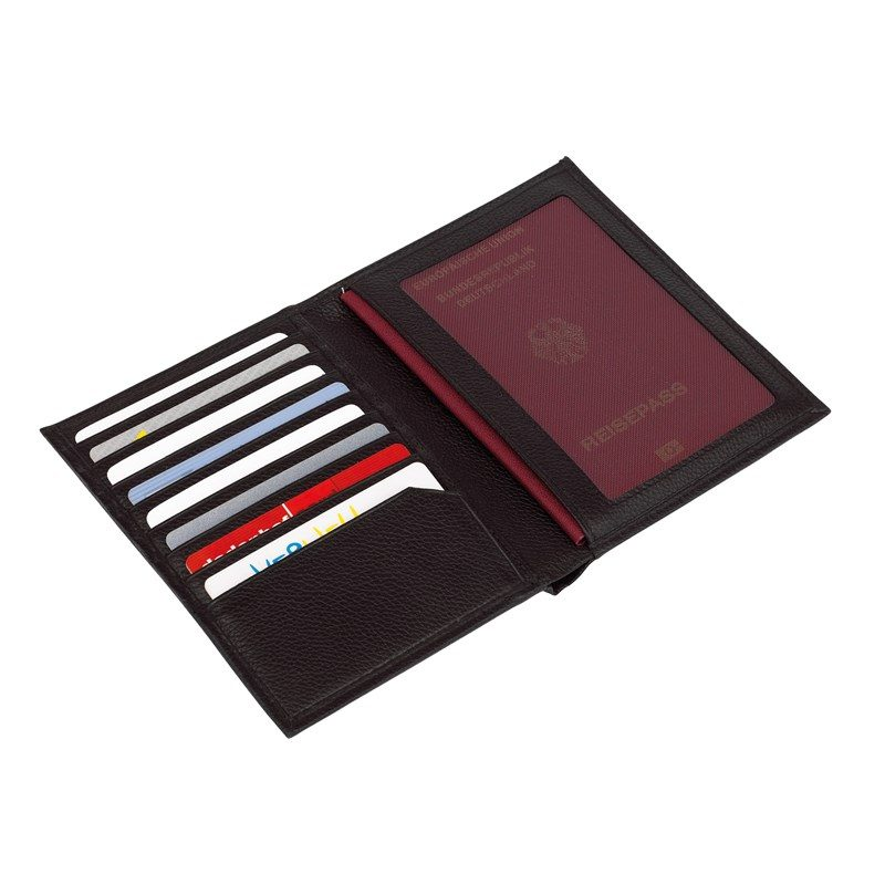 usine authentique 15851 bd621 Porte cartes complet cuir noir