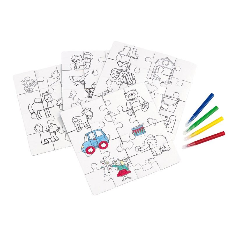 le cadeau ce coffret coloriage 4 puzzles feutres