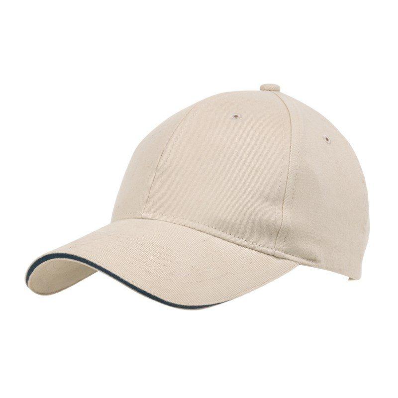 objet-publicitaire-casquette-6-segments-beige