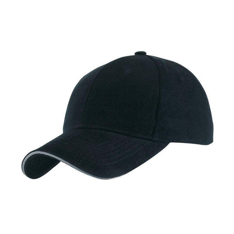 objet-publicitaire-casquette-6-segments-noire