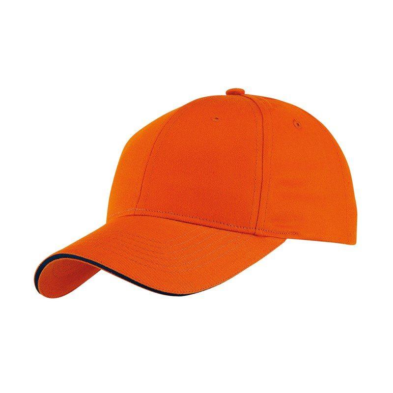 objet-publicitaire-casquette-6-segments-orange