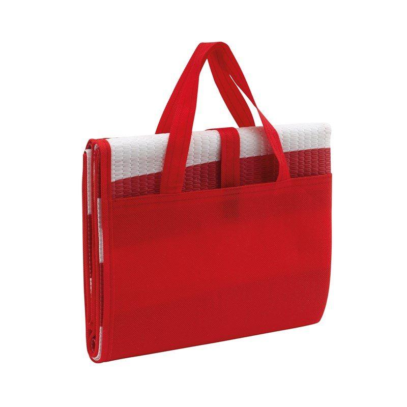objet-publicitaire-matelas-plage-rouge