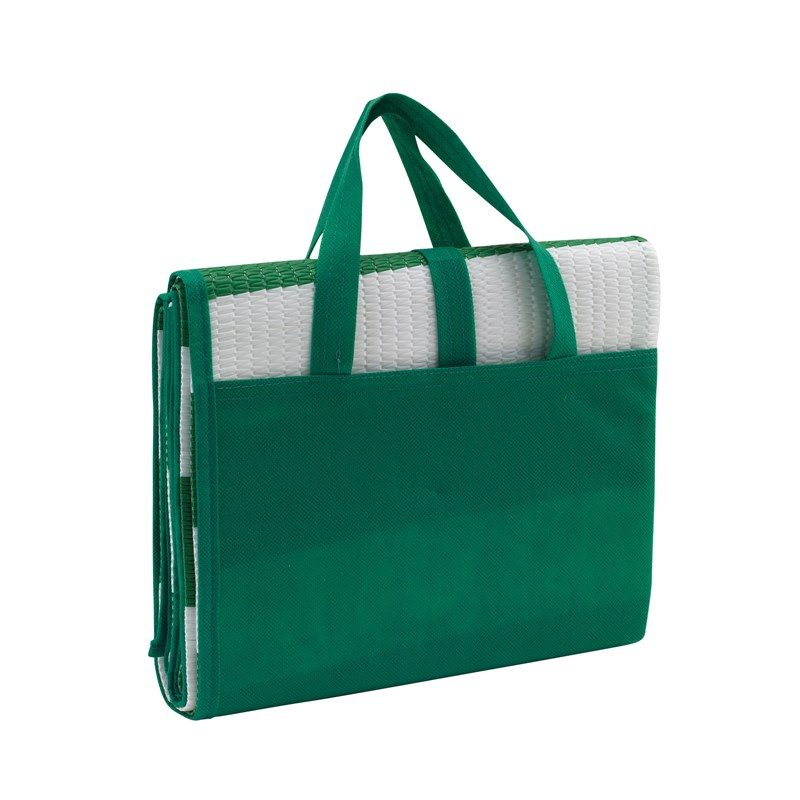 objet-publicitaire-matelas-plage-vert
