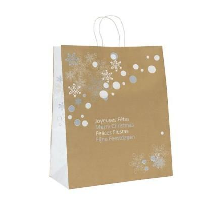 cadeau-affaire-sac-cadeau-or-snow-flake