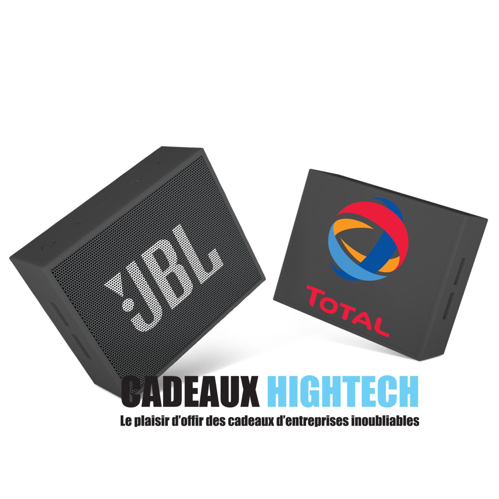 Magnifique cadeau client enceinte JBL noir avec logo
