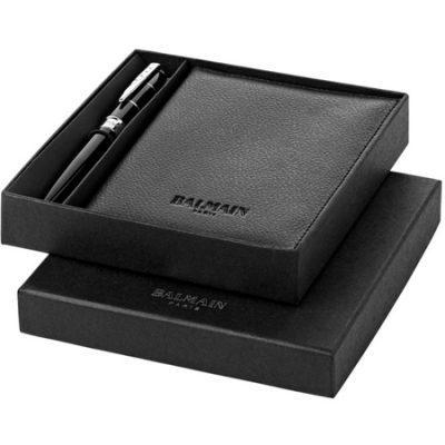 Parure-stylo-et-pochette-Balmain-design