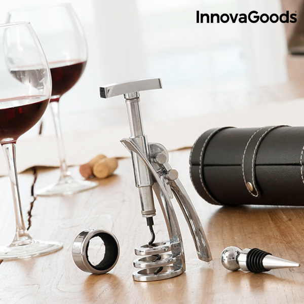 un cadeau entreprise originale avec un ensemble d'accessoires vins