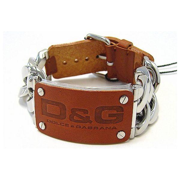 idee-cadeau-bracelet-homme-dolce-and-gabbana-argente-et-marron