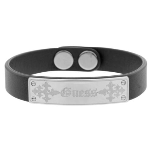 idee-cadeau-bracelet-homme-guess-cuir-noir