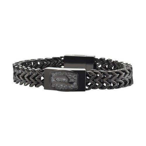 idee-cadeau-bracelet-homme-police-acier-noir