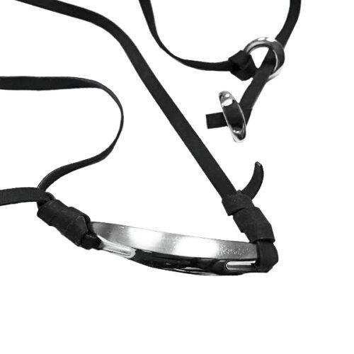 idee-cadeau-collier-homme-breil-noir-acier-cuir