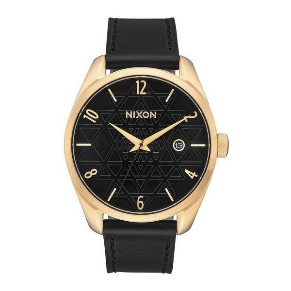 idee-cadeau-montre-femme-nixon-acier-et-cuir-noir