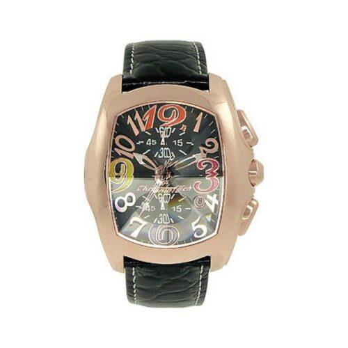 idee-cadeau-montre-homme-chronotech-cuir-noir