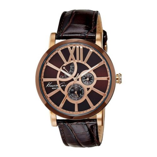 idee-cadeau-montre-homme-kenneth-cole-44mm-marron
