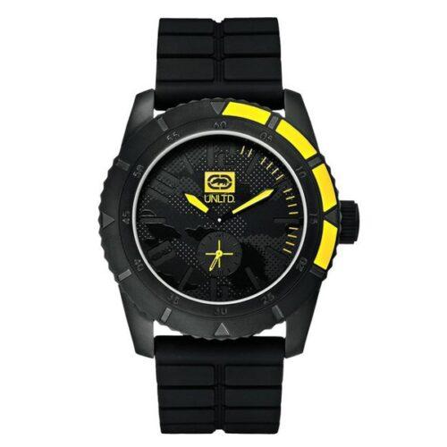 idee-cadeau-montre-homme-marc-ecko-noir-silicone