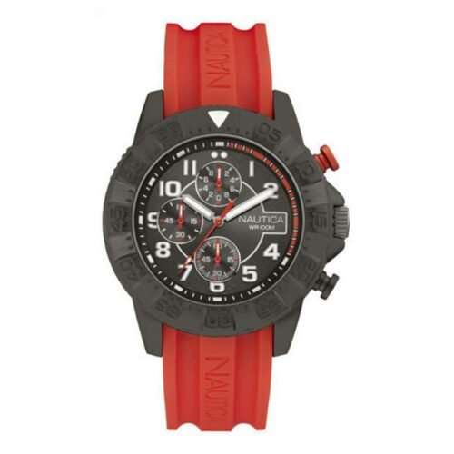 idee-cadeau-montre-homme-nautica-gris-silicone