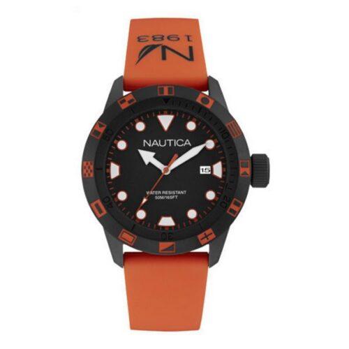 idee-cadeau-montre-homme-nautica-noir-et-silicone