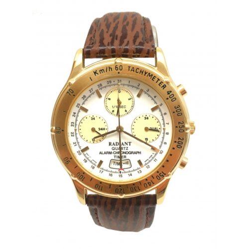 idee-cadeau-montre-homme-radiant-blanc-cuir
