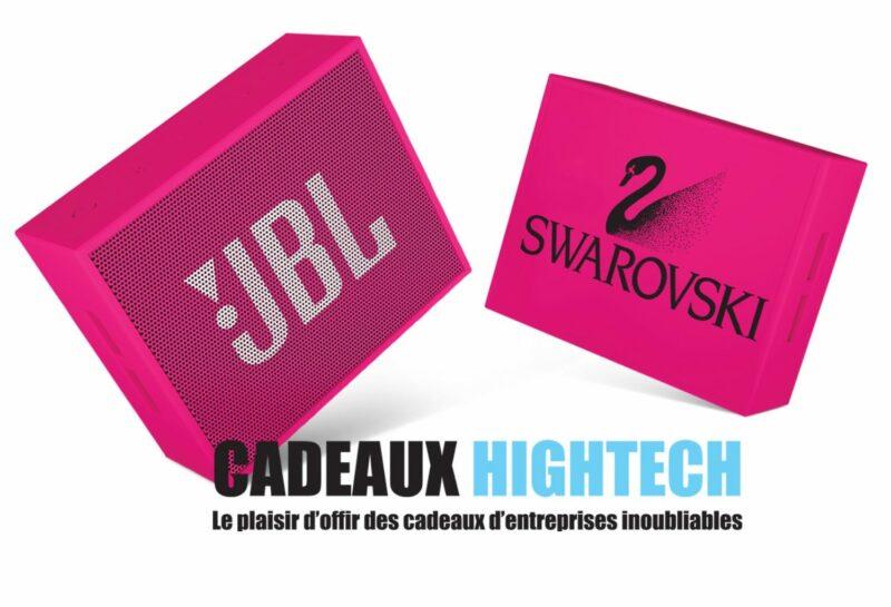 cadeau-client-enceinte-jbl-rose-avec-logo