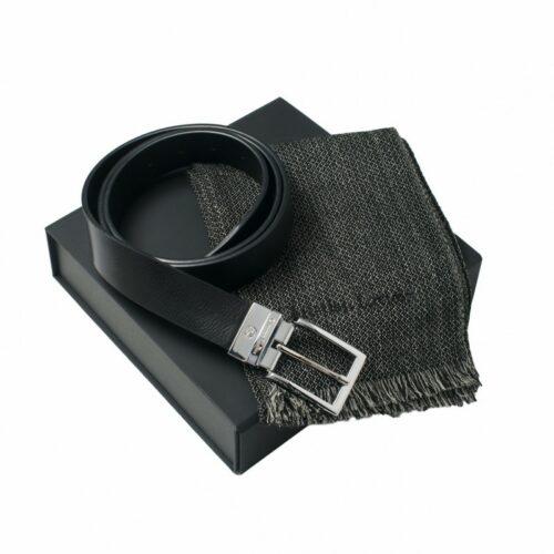 cadeaux-d-affaires-parure-christian-lacroix-cuir-noir