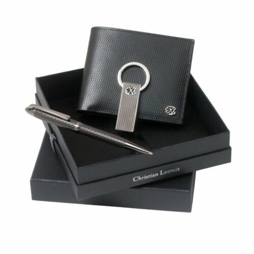 cadeaux-d-affaires-parure-christian-lacroix-portefeuille-rhombe