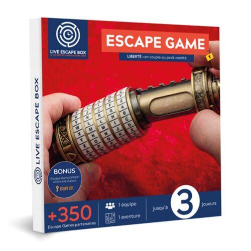 Coffret cadeau entreprise Escape game 3 joueurs