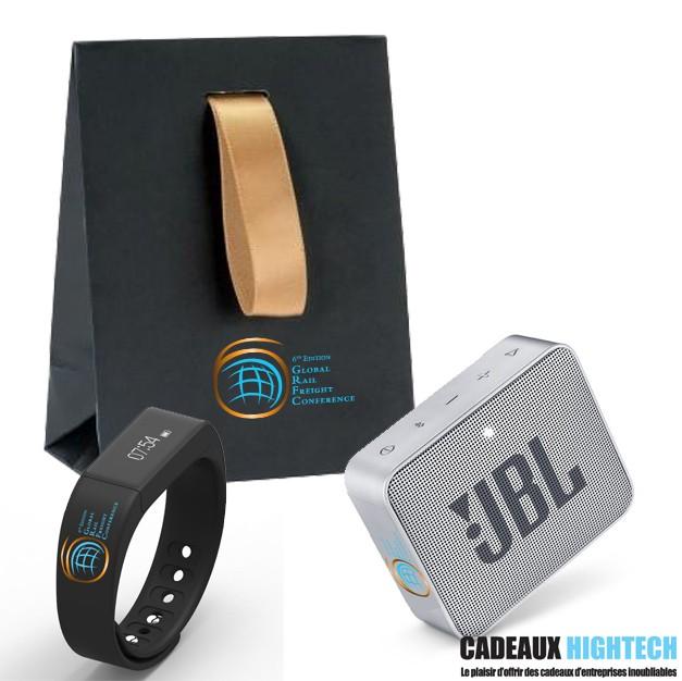 coffret-cadeau-entreprise-jbl-go-2-grise-et-bracelet-connecte