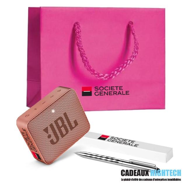 coffret-cadeau-entreprise-jbl-go-2-rose-et-coffret-stylo-tendance