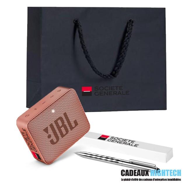 coffret-cadeau-entreprise-jbl-go-2-rose-et-coffret-stylo