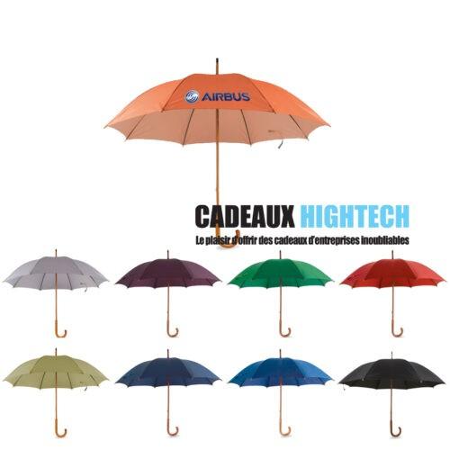 parapluie-manche-bois-tissu-en-nylon-orange.