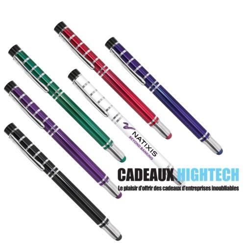 stylo-personnalise-line-metallique-luxe-blanc